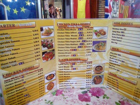 Menu 1 Picture Of Kebabish Masala Benidorm Tripadvisor