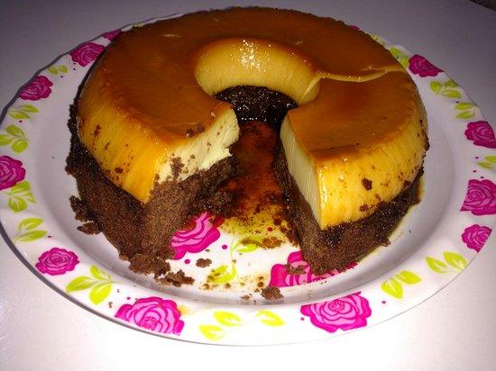 Restaurante e lanchonete Ponto do Bolo: O famoso bolo-pudim.