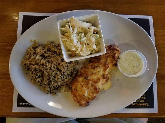 Duncansville, PA: Crab-Crusted Whitefish with Pilaf/Quinoa and Tangy Cole Slaw