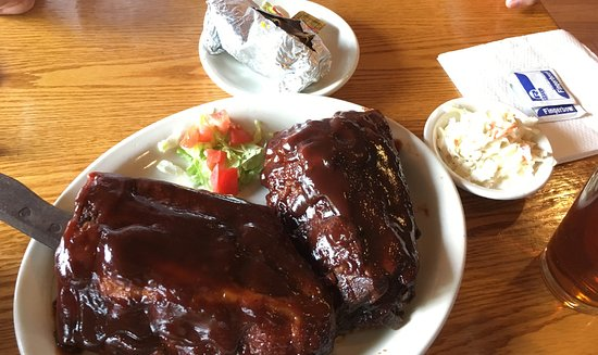 New Cumberland, PA: full rack of ribs and baked sweet potato