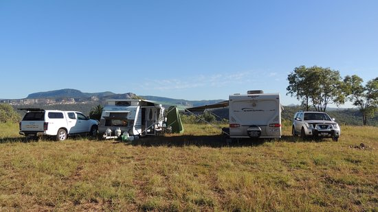 Our Campsite Overlooking The Carnarvon National Park.