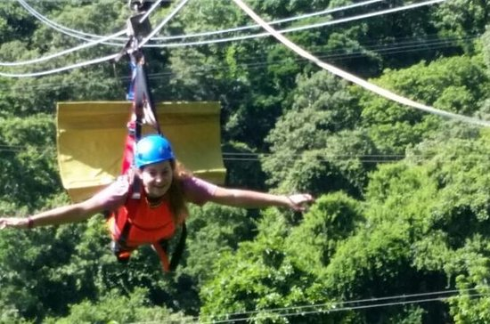 Zuperman Zip 'n Dip Zipline and...