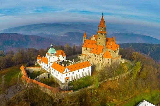 Bouzov Castle and Javoricko Caves Hiking tour from...