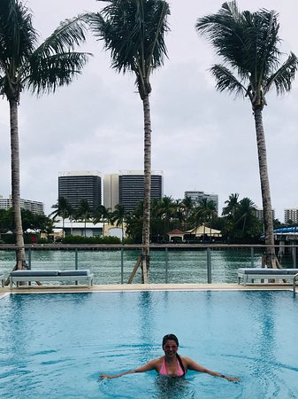 Bay Harbor Islands, Floryda: Fabulous view while enjoying the beautiful pool