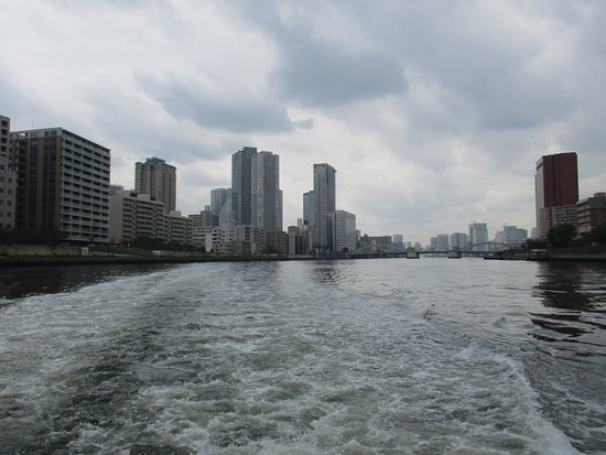 Tokyo Cruise (Sumida River): View of Tokyo and Sumida River, seen from Tokyo river cruise boat