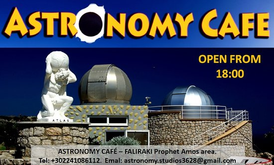 Faliraki, Greece: Astronomy Cafe OPEN FROM 18:00