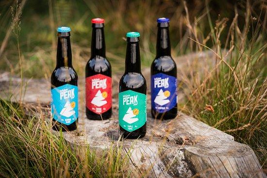 Sourbrodt, เบลเยียม: Les 4 bières brassées à l'eau des Hautes Fagnes, disponibles sur place.