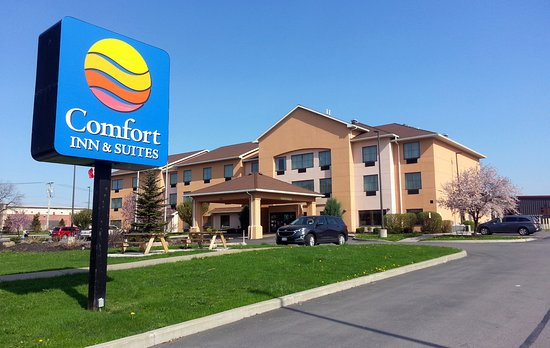 Farmington, NY: front of Comfort Inn from driveway entrance