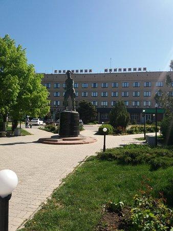 Salsk, Russia: Вид на гостиницу