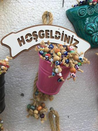 Sirince, Turquía: beautiful hanging decor with evil eye