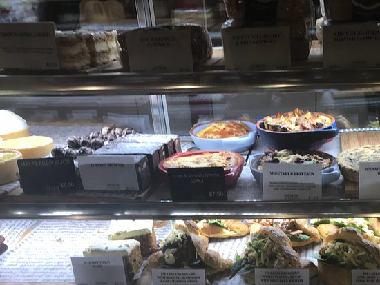 Raymond Terrace, Australia: Frittatas, quiches, loaded croissants and loaded baguettes