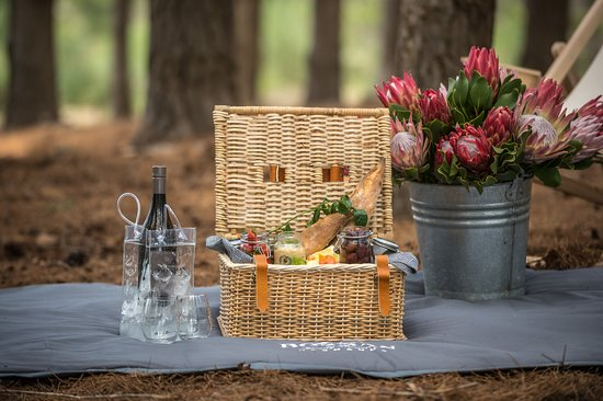 To compliment the tasting experience at Bosman Hermanus, a picnic service is available.  Book on