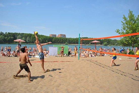 The Beach on the Svetloyarskoye  Lake