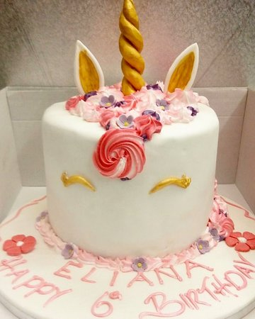 Super Unicorn Birthday Cake Picture Of Aroma Patisserie Enfield Funny Birthday Cards Online Eattedamsfinfo