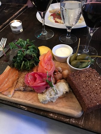 The Winding Stair: Smoked fish starter