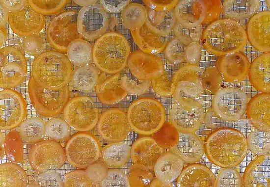 ubuntu cafe and bakery: Candie orange peel - Almost everthing is made from scratch - we even candy our own orange peel