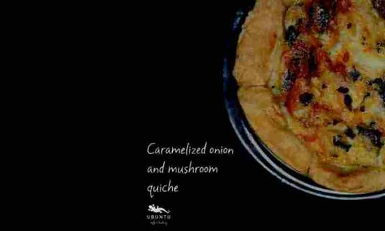 ubuntu cafe and bakery: The quiches at Ubuntu are made with a cream cheese crust - freshly made every day