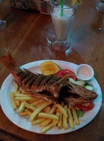 San Juanillo, Costa Rica: Fresh fried fish.