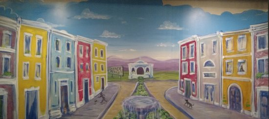 Ballston Spa, NY: The mural in the back room of Leons