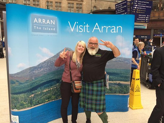 Corrie, UK: With Visit Arran at Glasgow Central train station