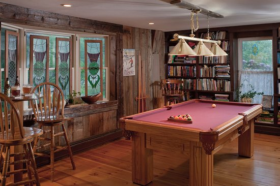 Warren, VT: The Pool Table in the Library at West Hill House B&B