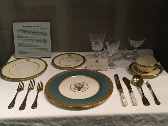 Independence, MO: This china set cost around $28,000 at the time, or about $300,000 now.
