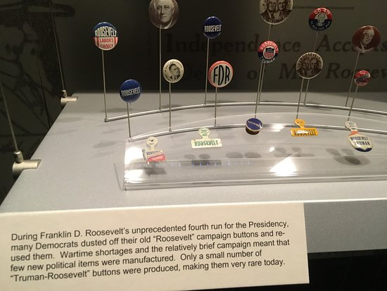 Independence, MO: Pins for the 1944 campaign were mostly from earlier campaigns during a time of metal scarcity.