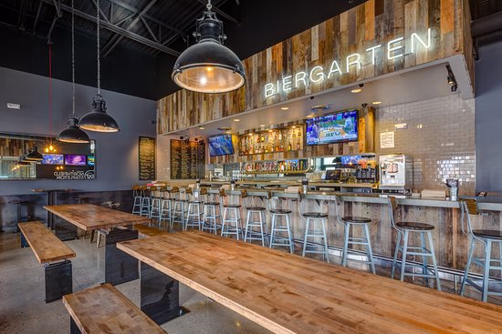 Dog Haus Biergarten Northfield Stapleton Table Seating Or Belly Up To The Bar
