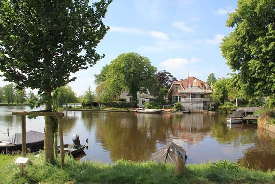 A calm view of the area nearby the Sint Nicolaaskerk in Broek in Waterland Noord, Holland
