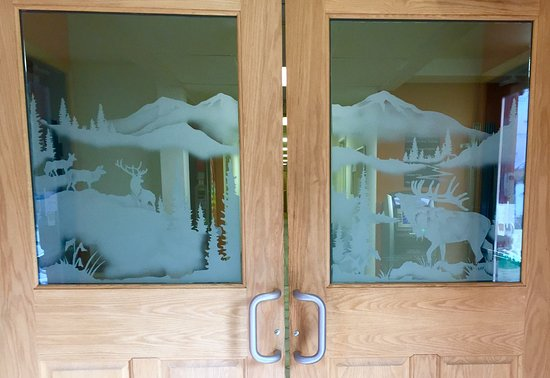 Cooke City, MT: Our beautiful entrance doors.