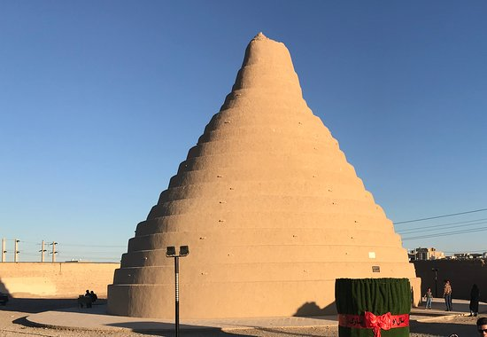 Abarkuh, Iran: The cone shaped Yakhchal