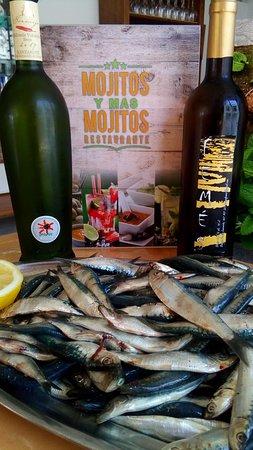 Mojitos y mas mojitos, restaurant canario: Sardinas a compañías de un buen vino en mojitos y más mojitos