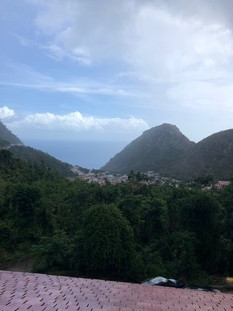The Bottom, Saba: It's a little rainy this hour but will pass soon.