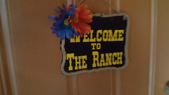 The Ranch Suites: on every door - nice touch