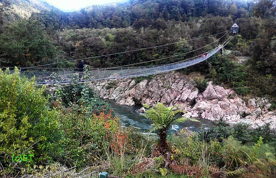 Nelson-Tasman Region, New Zealand: the famous swing bridge