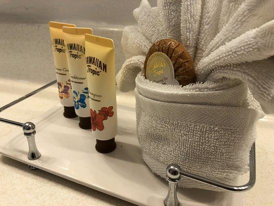 The Anaheim Hotel : Hawaiian Tropic soaps and shampoos!