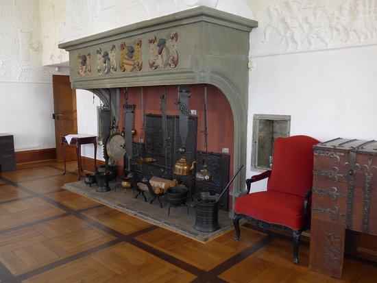 Soest, Burghofmuseum, Rittersaal, mantelpiece