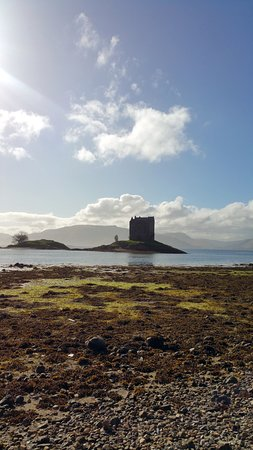 Appin, UK: View of Castle Stalker from