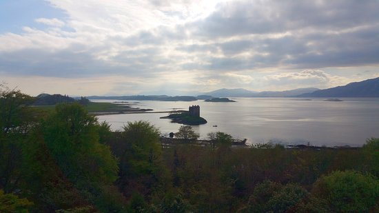 Appin, UK: View from balcony of dining area.