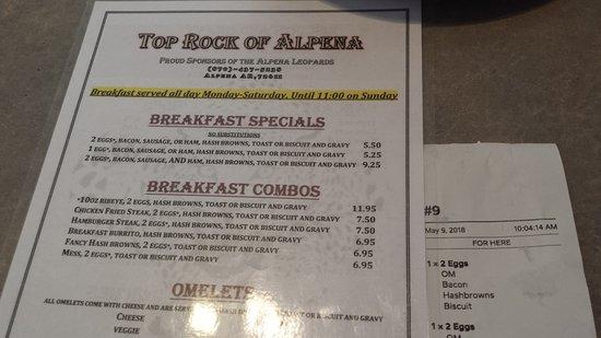 Alpena, AR: Our menu & order