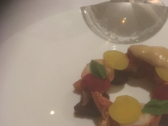 TRB Hutong: Chunks of lobster with beetroot served three ways