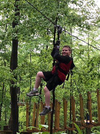 Purchase, NY: zip lining!