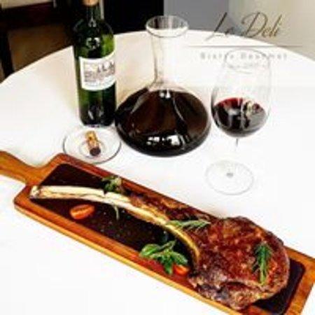 Le Deli Bistro Gourmet: black angus beef tomahawk