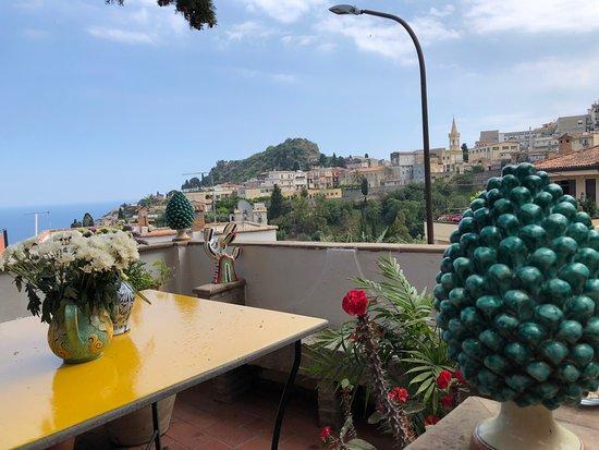 Villa Britannia Sicilian Cooking class: View from the terrace.