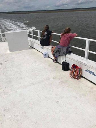 Νησί Κάμπερλαντ, Τζόρτζια: Upper deck of Ferry