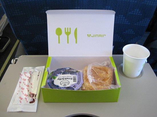 Jin Air: 往路の軽食
