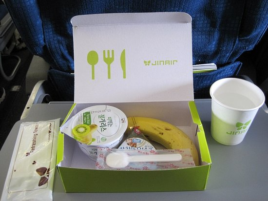 Jin Air: 復路の軽食