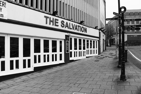 The Salvation: A side view photo of Salvation with a nice black and white effect.