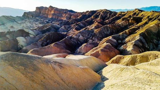 Zabriskie Point: Rock formation