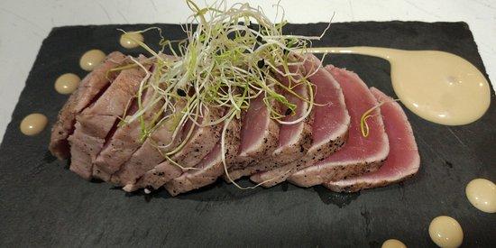 Villaviciosa de Odon, สเปน: Tataki de atún con salsa de soja